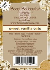 Sweet Vanilla Oats - ScentSational's Wickless Candles