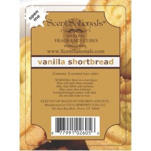 Vanilla Shortbread - Scentsationals melt review